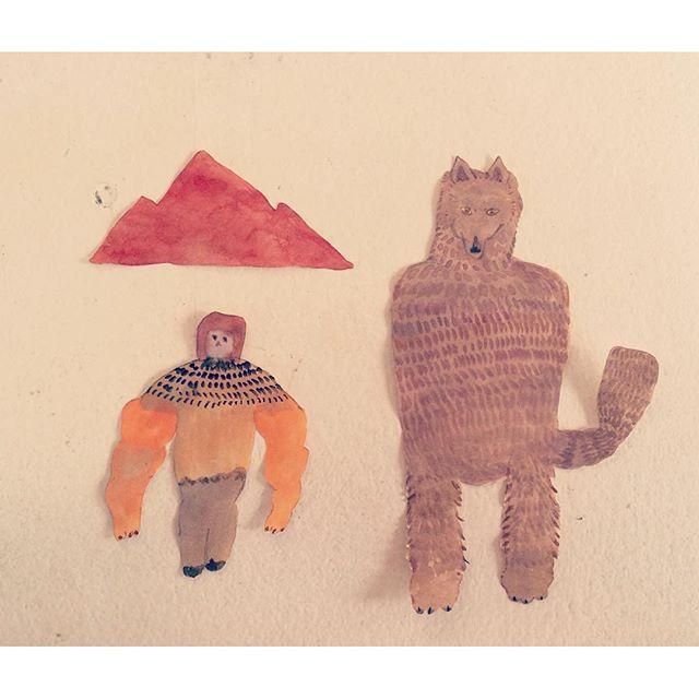 オオカミのフサフサ 登山家の赤い山  それぞれのプライド