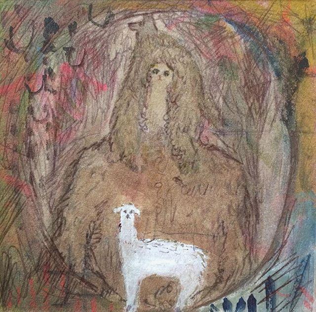 『forest girlと白ヤギ』フワフワと浮いた気持ちの確認には ボールペイン。