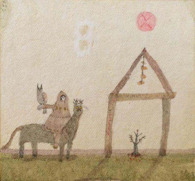 『干し柿と鷹匠』