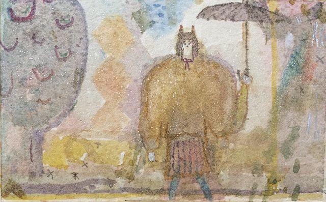 『melancholic umbrella』水が沁みれば 奥行きは グッと入りこむ。乾いた世界の ビジョンを 保つ。雨傘。日傘。