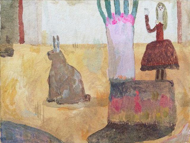 『兎と赤いドレス』この世の中に 抽象がなくなってしまったら  どれだけ 寿命が 縮まるのか。