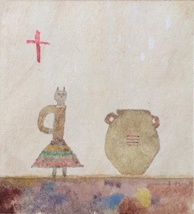 『壺を観る猫娘さん』kousagisha galleryで 西野 詩織さんの 展覧会「niin」が 始まった。 niinとは フィンランドの言葉で、 日本の言葉では 「そう(相槌)」 の意味が あるみたいです。 相手がいての言葉。 西野さんは この言葉で 何度も 展示をしているらしく、同じ 「niin」という言葉でも  中身は 色々と変化していて  今回のkousagisha galleryでの展示では 、 主に 自分自身に 向けている 「niin」という 言葉みたい。 自分に 向けての相槌。作品から 響く相槌は これからの  始まりなのか、終わりなのか。