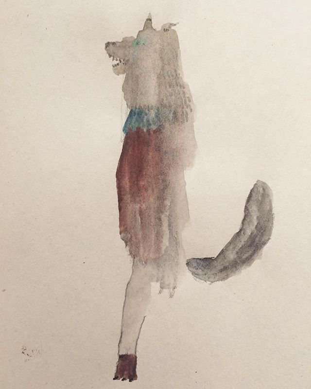 『painting wolf』