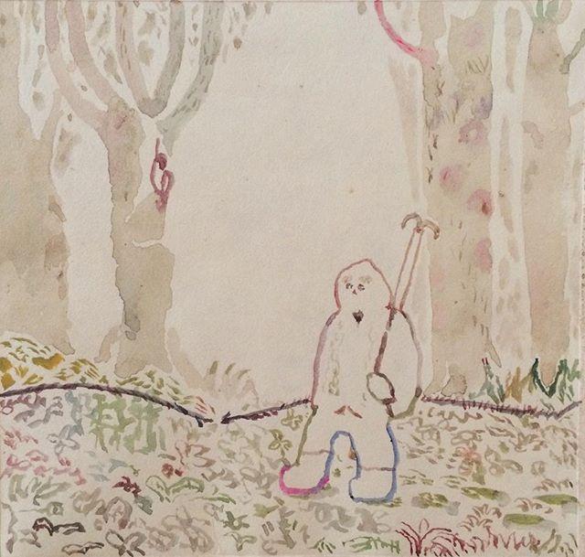 『迷いの森』迷い日は  落書きも進む。落ち目がみる世界。