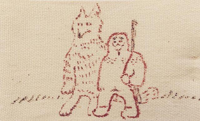 『狩人とオオカミ』布の上では 仲良しこよし。