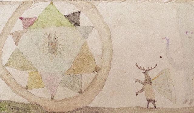 『10枚の羽根を保つ兎と雄鹿と烏賊』輝く事は 羽根をもつこと。挑戦する事は 角をもつこと。翻訳することは 烏賊(イカ)にまかせること。