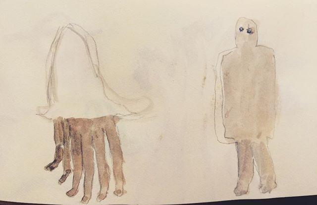最近は 日記帳に描くことで 壁に描いている感じをイメージしている。同じ様な事を 繰り返している中で。
