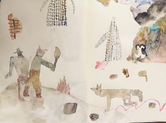 『私は探検が したいんだ!』ドイツの部屋の夢をみながら 風が強くて 猫が外へ出せと 叫んでる。僕は 画面が 治って 安心できる事を望んでいるけど、小さなとこで ぐちゃぐちゃを 描かないと 治らない。