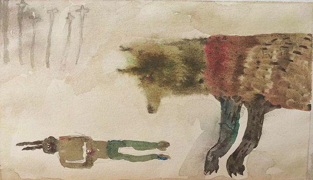 『Wolf und Hase』死んだふりしても バレるだろう。狼は 滲んでいるから。