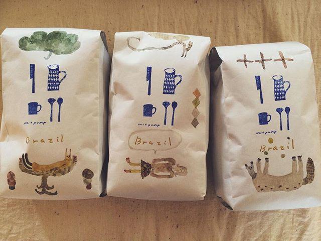 敬愛する ミエポンプの豆に 描く。 ミュンヘンへのお土産にと つくったけど  まさかの 空港が水没。まさかの空港ドリップ。ワタワタする心情。まさに心情ドリップ。