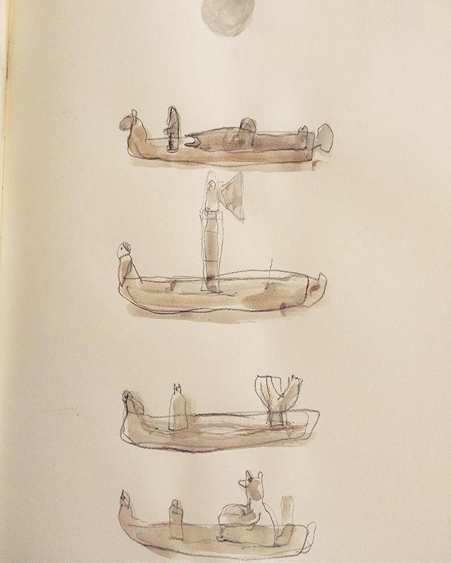 舟の構想。何が乗るのか、大きさか。