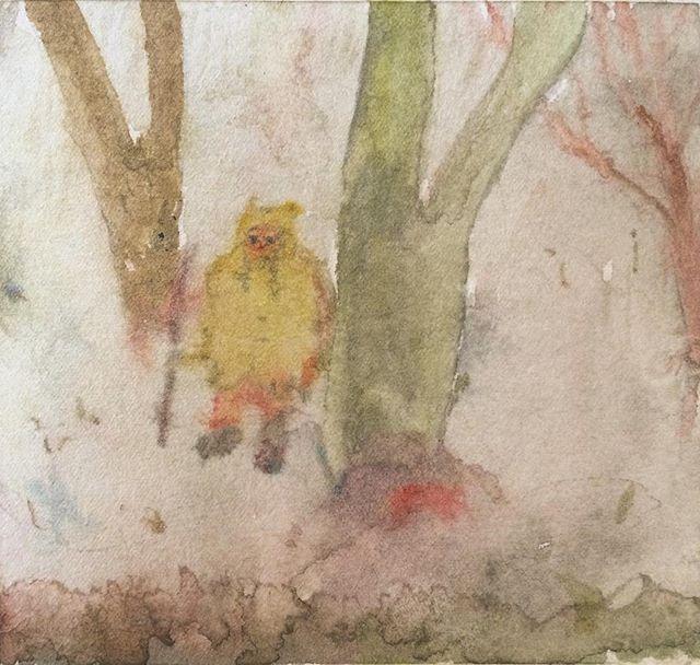 『黄色の森徘徊』画面のしっかりさ とかは 目的地ではなく 鉛筆と水がひろげる 森の中。