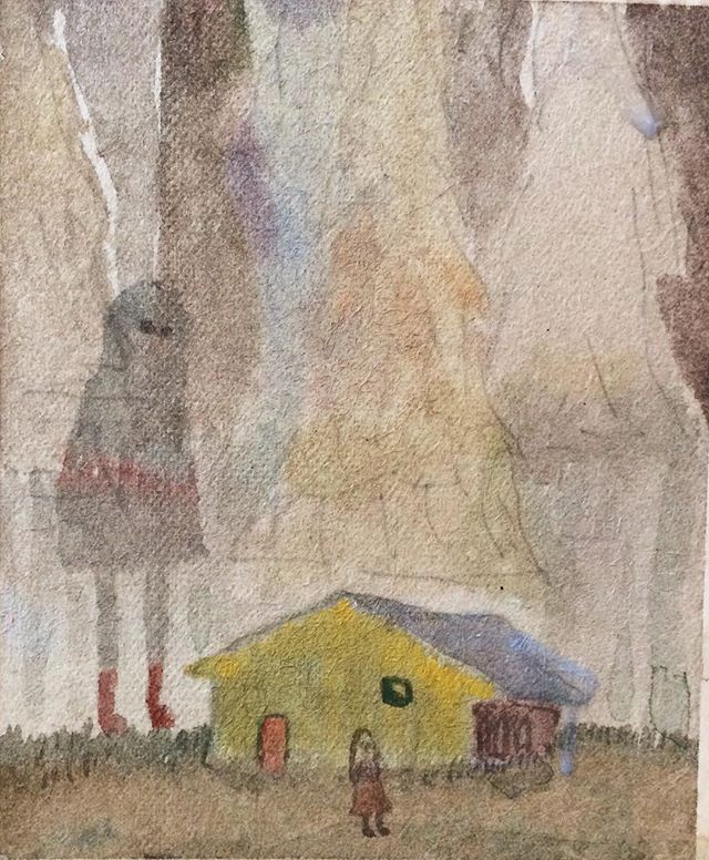 『大きいと 黄色い家には 入れない』入れないのだど いつも大きさは 測れるものではない。