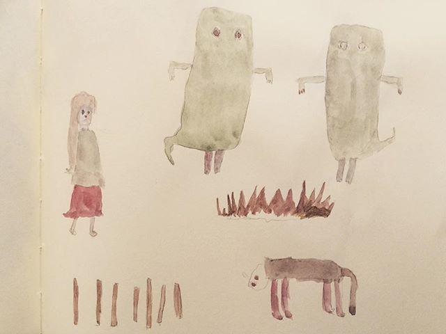 最近は ギャラリストとしての 自分と 立体の完成度は あるけど 平面の方が ワラワラしている。だからか 幽体に足を生やした。