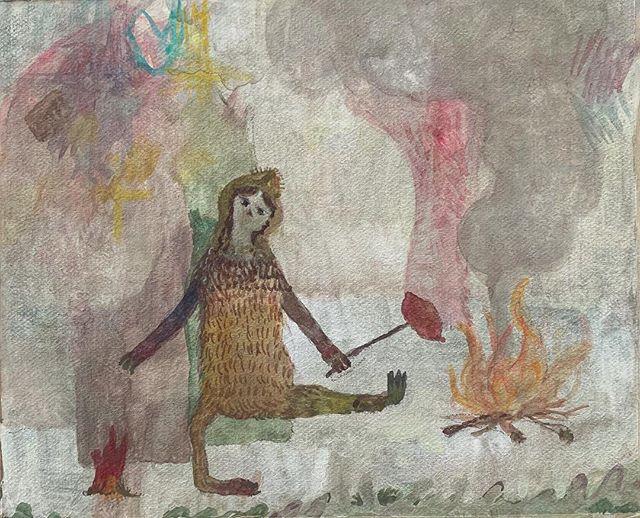 『猿娘 火を使う』知恵は 実践してこそ 体温でわかる。言葉は無用、押し通れ。