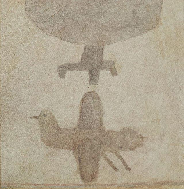 『 tree & bird 』モノとモノが 隣り合い 画面が生まれたり、空気を描いたりできる 喜び。答えではないカタチ。