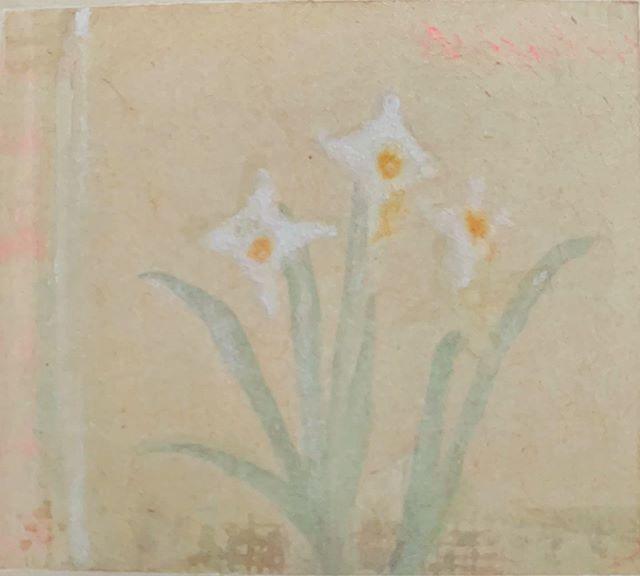 『flower & white』絵を描いていると、つくづく 『答えない』ことに 近づく。最果て→尾。ああ、あっち世の入口だったね。