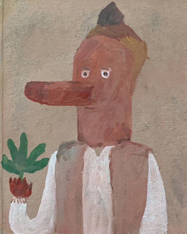 『タロウ坊』べにさんの絵に刺激をうけたのか、尾道で出会った 天狗のタロウ坊。マッドな画面に ドキュン。
