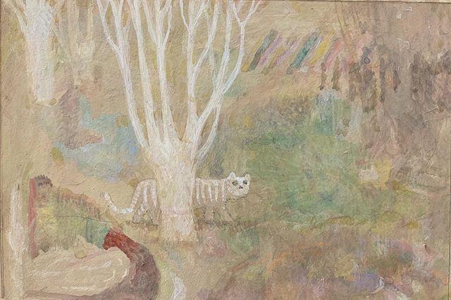『tree tree tree CAT』白い木 木の枝 土というか泥?小さな画面。二階から 鳥の音楽がきこえる。