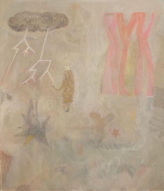 『カミナリ吟味図』自分の創り出した 雨雲からカミナリが出たので それについて 調べてみる。先日聞いた 『一番大切なモノは いつも 隠れ側』という コソコソ話。灰色 成る程ね。