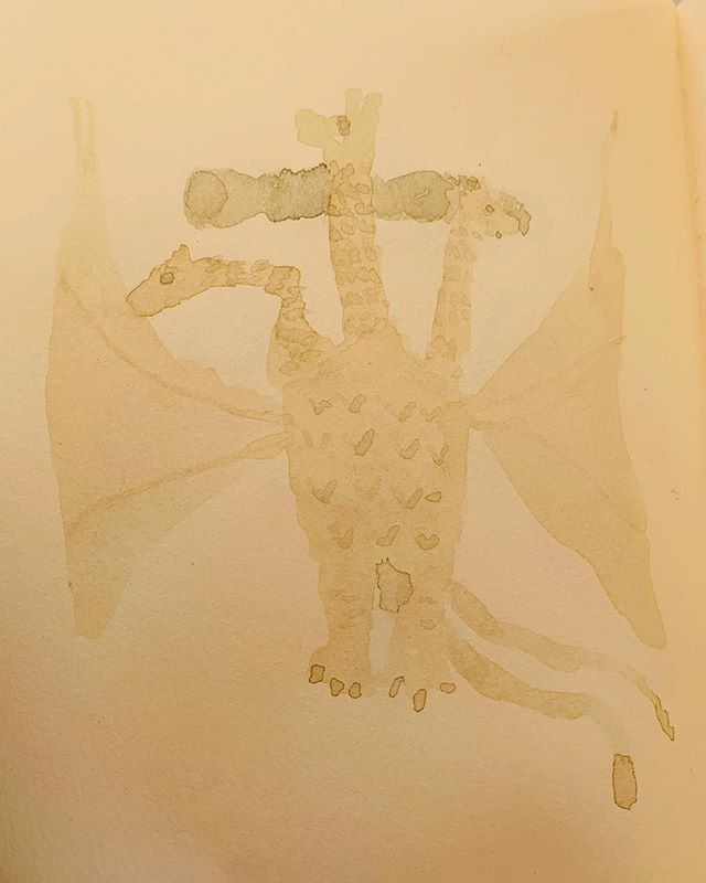 キングギドラ 模写の模写。日記帳だから できること。物質。